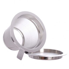 Colador filtro de acero inoxidable con tapa