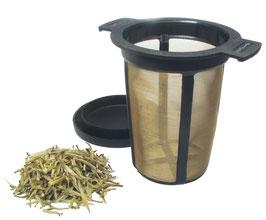 Colador filtro de acero inoxidable con tapa de plástico