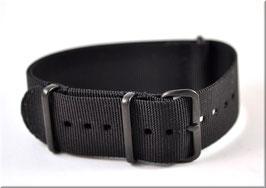 Nato Textil Armband Black Black Buckle