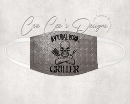 Mondkapje Natural Born Griller Metal plate