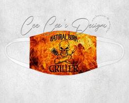 Mondkapje Natural Born Griller Flames