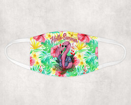 Mondkapje Hello Summer Flamingo