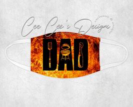 Mondkapje Dad BBQ Flames