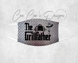 Mondkapje The Grillfather Metal plate