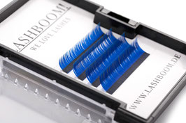 CrazyColors Lashes BLAU Stärke 0.15 10mm-13mm Mix