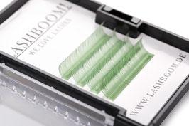 CrazyColors Lashes GRÜN  Stärke 0.10 10mm-13mm Mix