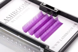 CrazyColors Lashes LILA  Stärke 0.15 10mm-13mm Mix
