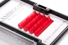 CrazyColors Lashes ROT Stärke 0.10 10mm-13mm Mix