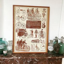 Gazelle poster jaren 70 in een oude houten lijst