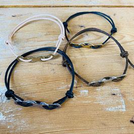 Armband met 3 enkele schakels fietsketting