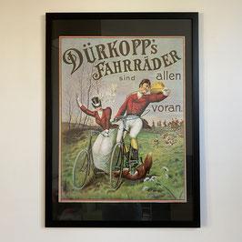 Ingelijste vintage poster van Dürkopp's Fahrräder