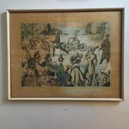 Oude ingelijste poster van Lemet.