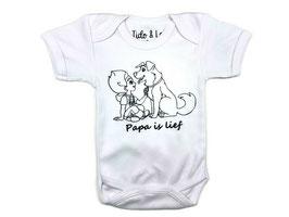 Romper B Wit/ Zwart (Papa is lief)