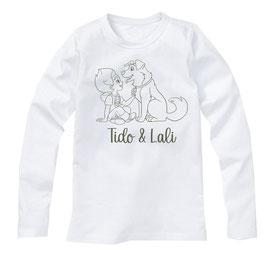T-shirt B (Wit) / Legergroen (lange mouw)