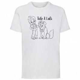 T-shirt A Wit /Zwart (korte mauw)