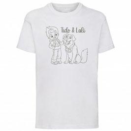 T-shirt A Wit / Legergroen (korte mouw)