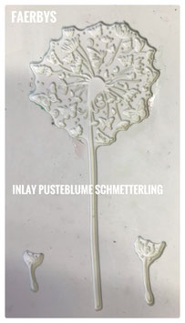 Inlay Pusteblume Schmetterling