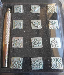 Matoir cuir coffret floral 3D mini
