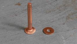 Rivets à mater en cuivre 26.5 mm / T35