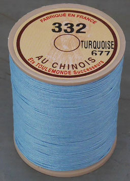 Fil au chinois 332 bleu turquoise