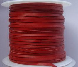 Lacet plat de cuir tannage végétal rouge - Kangourou - Haut de gamme
