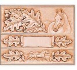 Calque pour le transfert de motifs - feuilles et chevaux