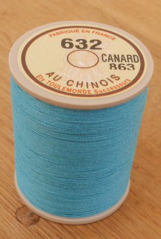 Fil au chinois 632 bleu canard