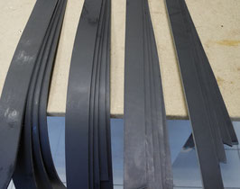 Bande 39 mm noir -  1,8 m