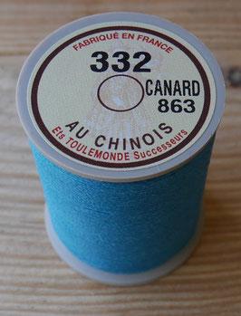 Fil au chinois 332 bleu canard