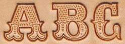 Matoir cuir coffret lettres 1,9 cm