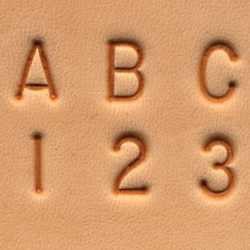 Matoir cuir coffret alphabet et nombre 6,4 mm