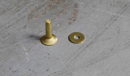 Rivets à mater en laiton 14 mm / T35