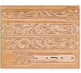 Calque pour le transfert de motifs - motif floral pour ceinture