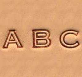 Matoir cuir coffret alphabet 6,3 mm - lettres évidés