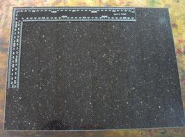 Marbre en granite pour le repoussage du cuir