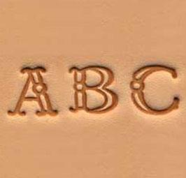 Jeu des 26 lettres de l'alphabet à frapper - 0,95 cm