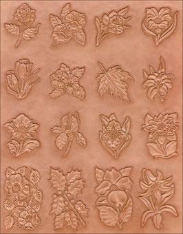 Calque pour le transfert de motifs - plantes