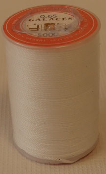 Fil polyester tressé 0.65 mm blanc