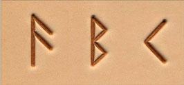 """Matoir """"3D"""" alphabet runique"""