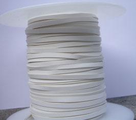 Lacet plat de cuir tannage végétal blanc - Kangourou - Haut de gamme