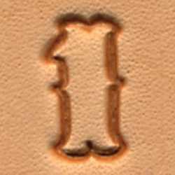 Matoir cuir coffret chiffres 1,25 cm