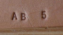 Matoir cuir coffret chiffres et lettres 0.32 mm