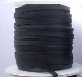 Lacet plat de cuir végétal noir - Kangourou - Haut de gamme