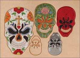 Calque pour le transfert de motifs - Crânes mexicain