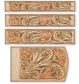Calque pour le transfert de motifs - motif floral pour ceinture et pochette