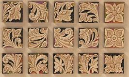 Calque pour le transfert de motifs - carrés floraux