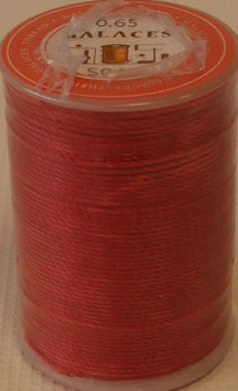 Fil polyester tressé 0.65 mm rouge