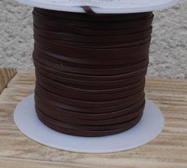 Lacet plat de cuir végétal chocolat - Kangourou - Haut de gamme