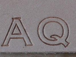 Matoir cuir coffret lettre 1,27 mm double trait