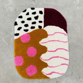 "Teppich ""Pink Dots"" | 50x80 cm"